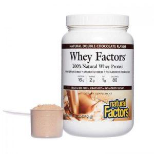 Whey Factors®Grass Fed Whey Protein/Пшеничен протеин изолат С ВКУС НА ШОКОЛАД, 1 кг пудра