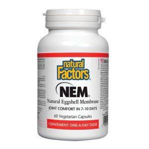 Natural Factors, НЕМ (натурална яйчена мембрана) 500 мг х 60 капс