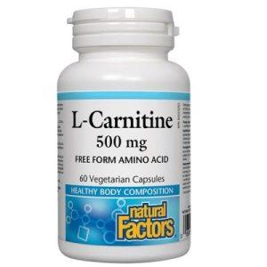 Natural Factors, L-Carnitine/ Л-Карнитин 500 мг х 60 капсули