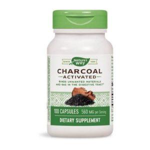 Nature's Way, Активен въглен (от черупки на кокосов орех), 280 мг х 100 капсули