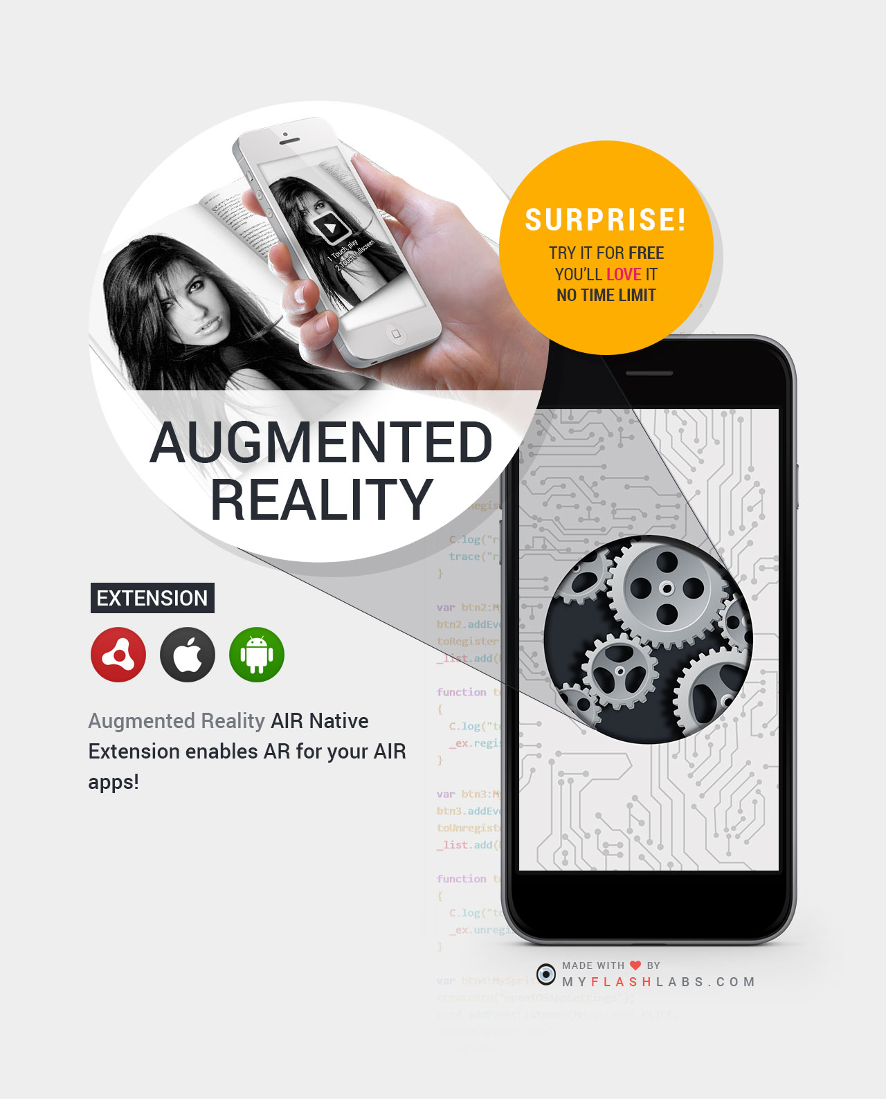 Augmented Reality ANE (Android+iOS)