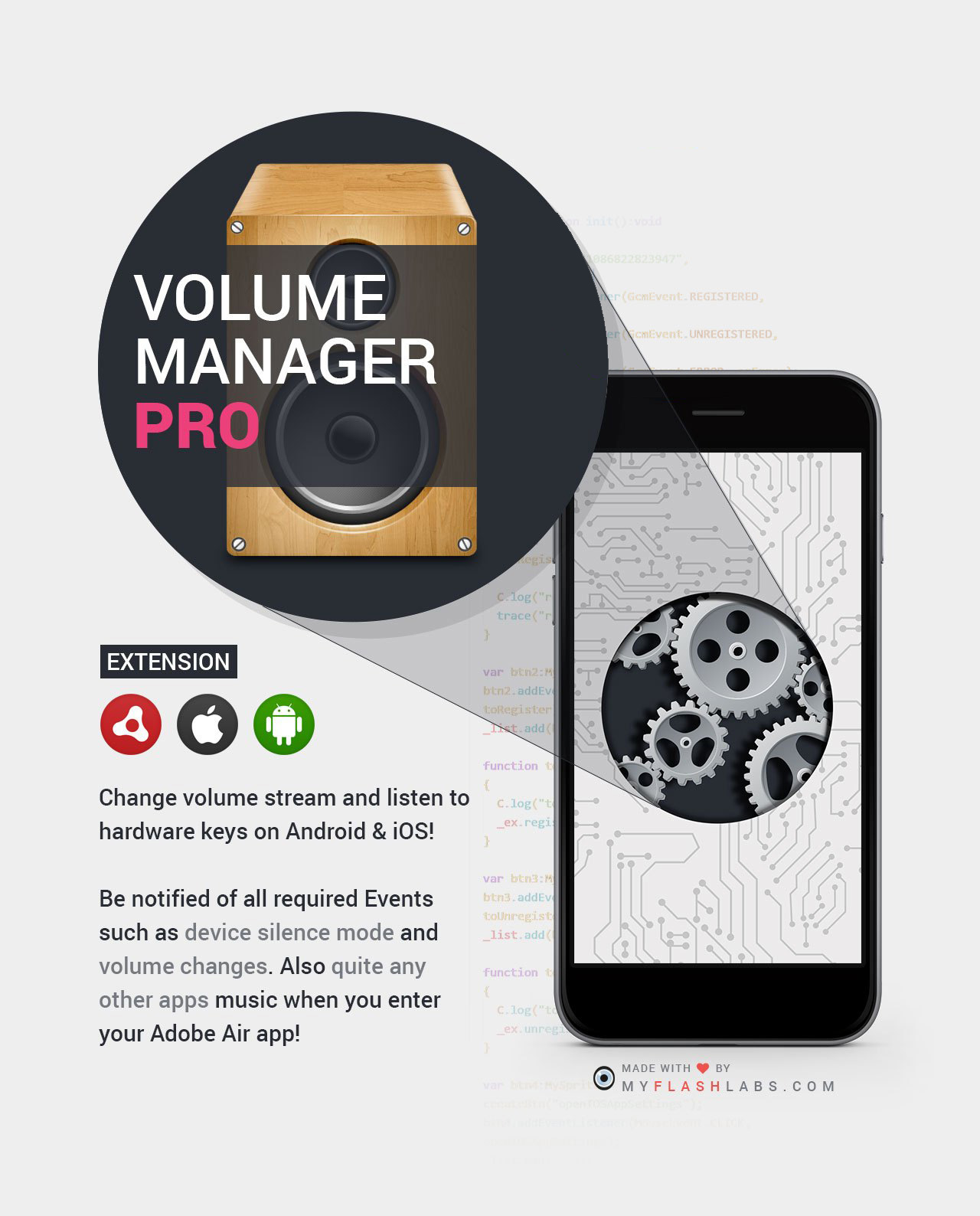 Volume Control Adobe Air Native Extension (Android+iOS)