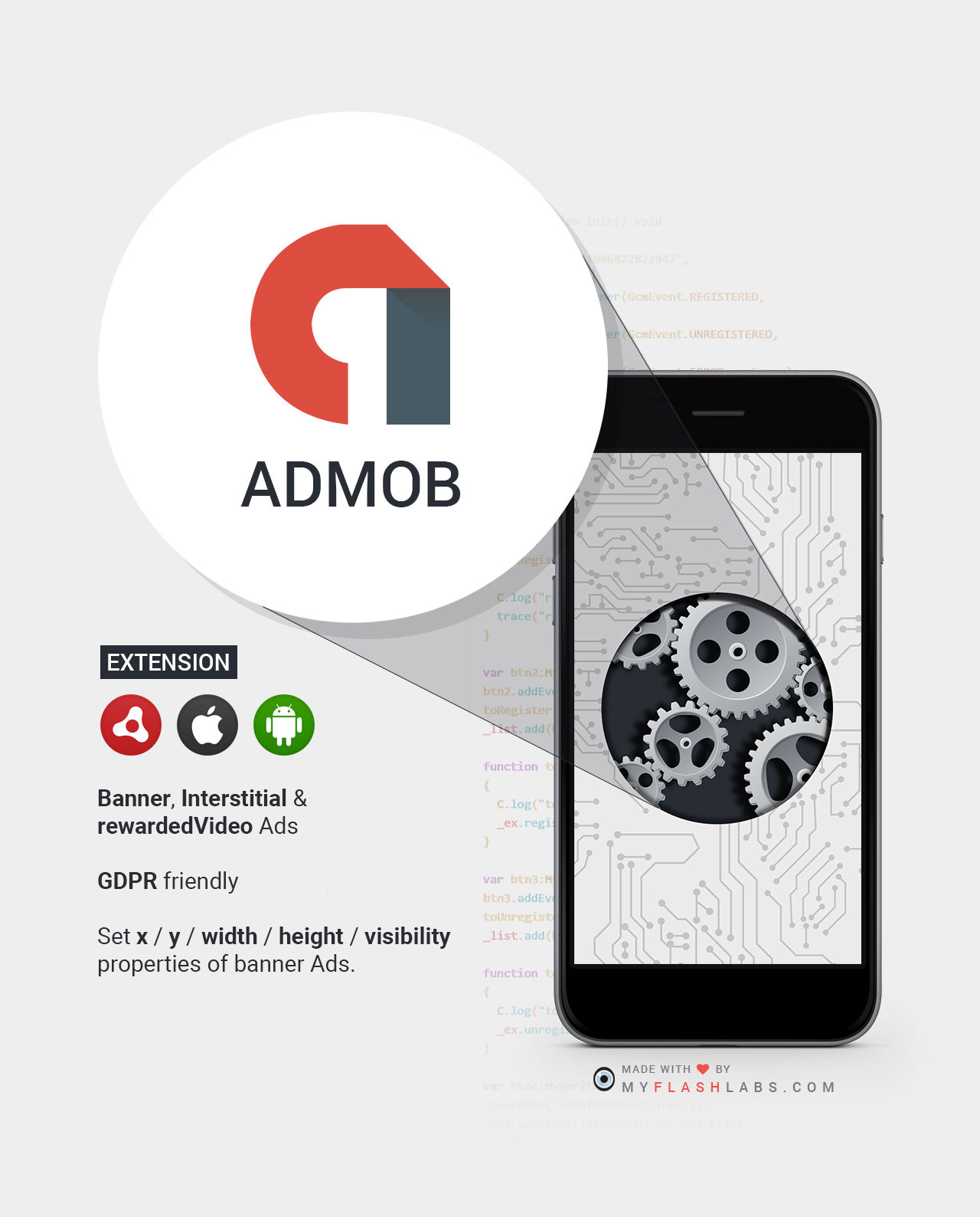 Admob Air Native Extension (Android+iOS) - MyFlashLabs