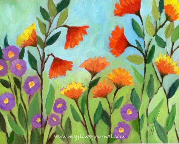 Easy Watercolor Paintings Flowers