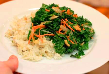 sauted ginger kale