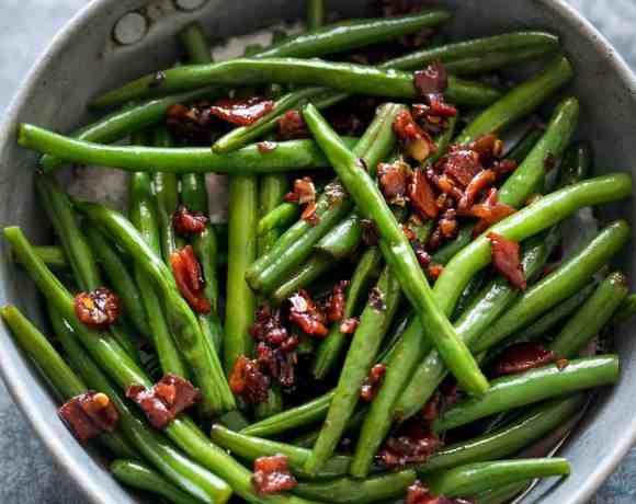 Sauteed Brown Sugar Bacon Garlic Green Beans