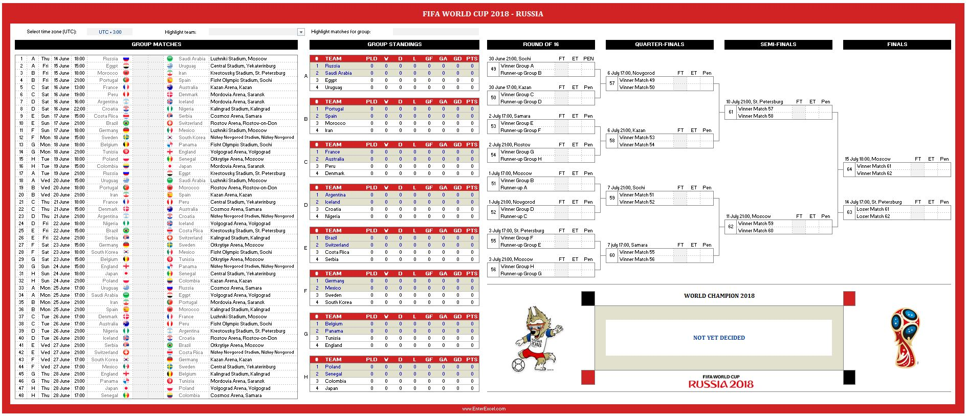 World Cup Free Excel Spreadsheet