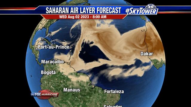 Saharan Air Layer Forecast - Atlantic | Hurricane and Tropical ...