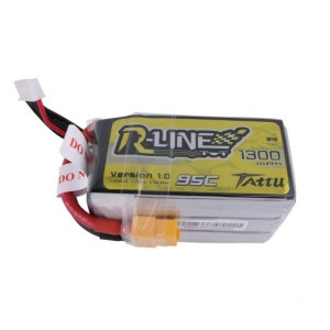 Tattu 1300mah R-Line 95C 6S 1300mAh Lipo Battery Pack with XT60 Plug