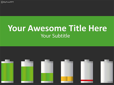 Free Battery Consumption PowerPoint Template Download Free PowerPoint PPT