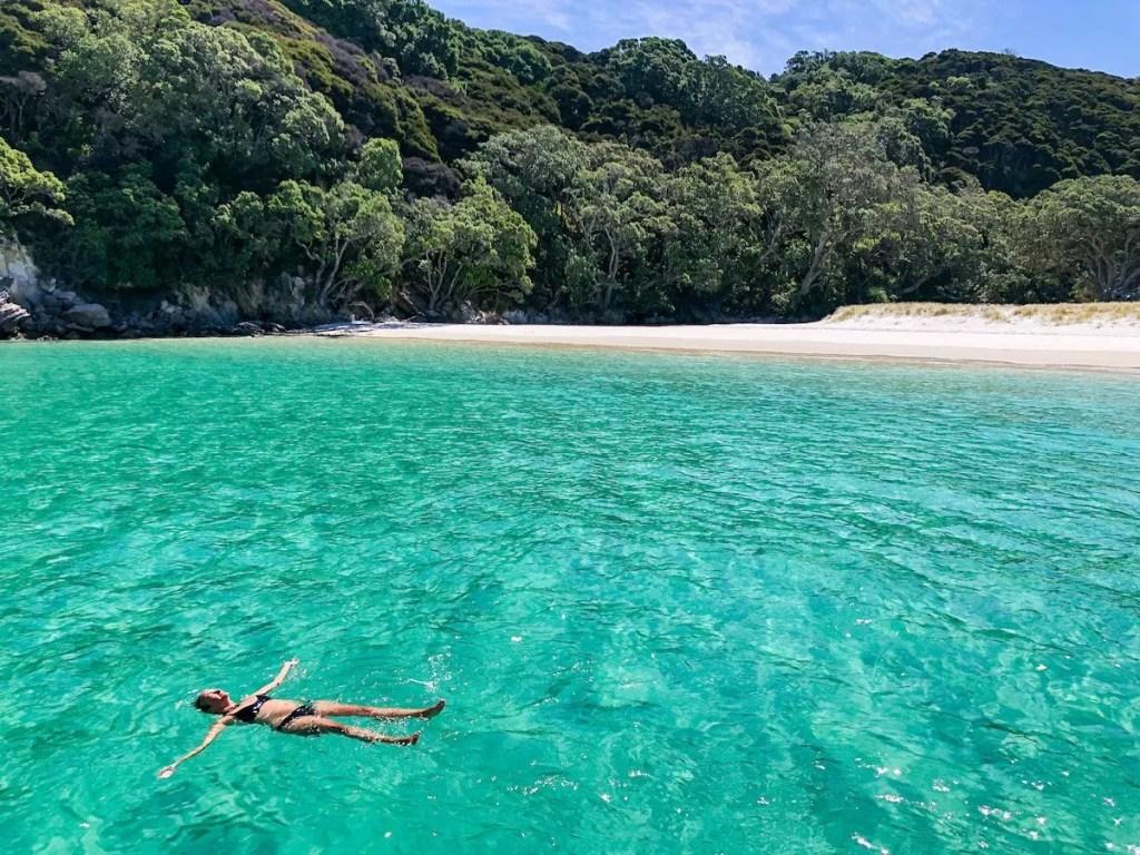 Great Mercury Island, floating in Peach Grove Bay - Coromandel Attractions