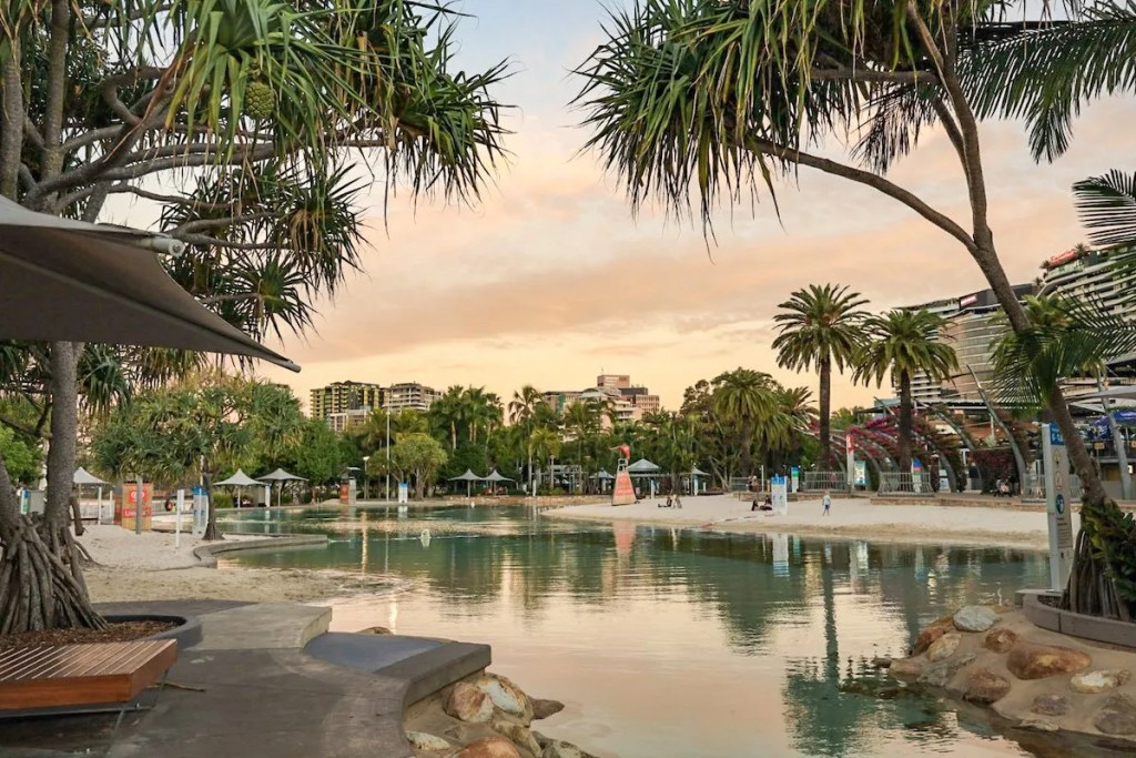 Lagoons in Southbank - exploring Brisbane on a budget