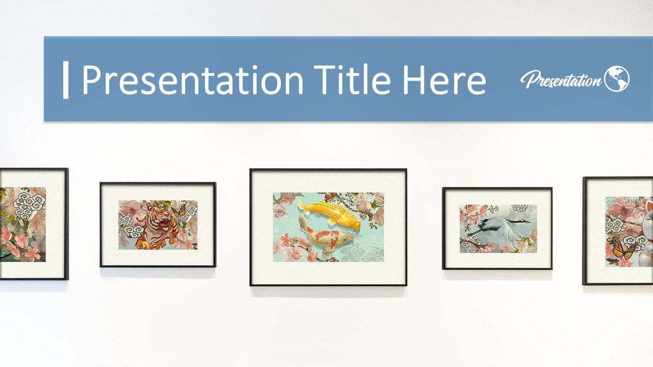 Art Gallery Portfolio Google Slides Themes Powerpoint Template Myfreeslides