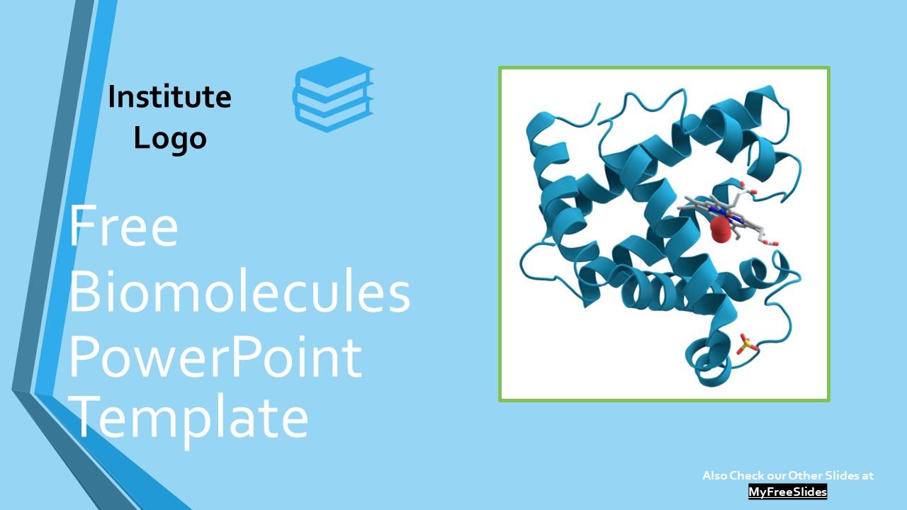 Free Bio Molecules Powerpoint Template Myfreeslides