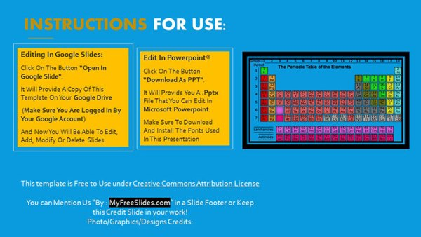Free Periodic Table PowerPoint Template - MyFreeSlides