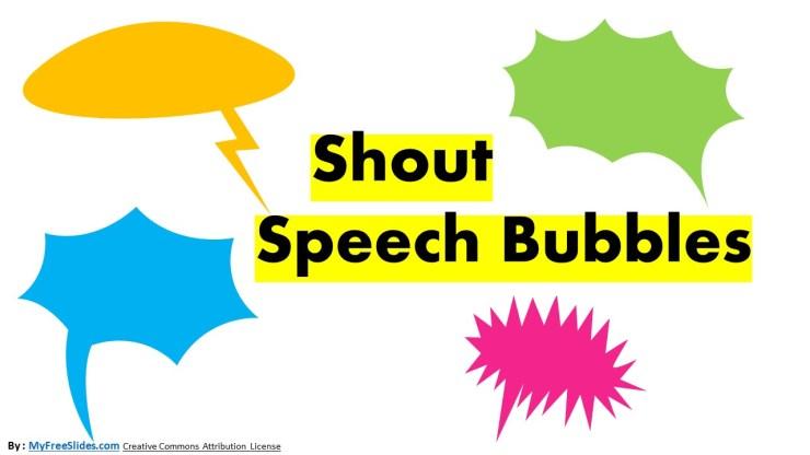 Shout Chat Bubble - Color Version