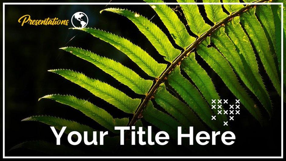Green leaves Google Slide Template