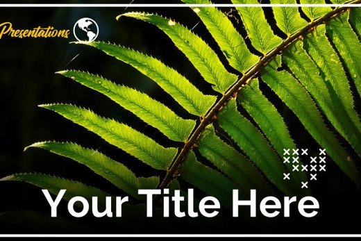 Green leaves Google Slide Template