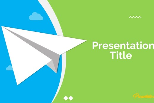 Paper Plane Google Slide Template