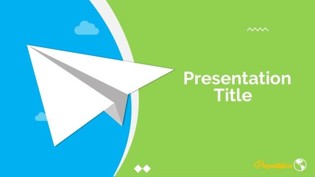 Paper Plane Google Slide Template