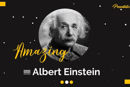albert einstein presentation template