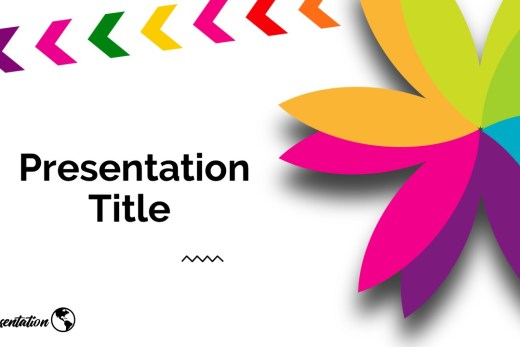 colorful flower infographic style presentation theme