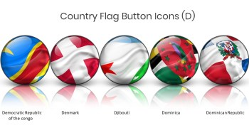 Denmark and other Flag Button Icon 1