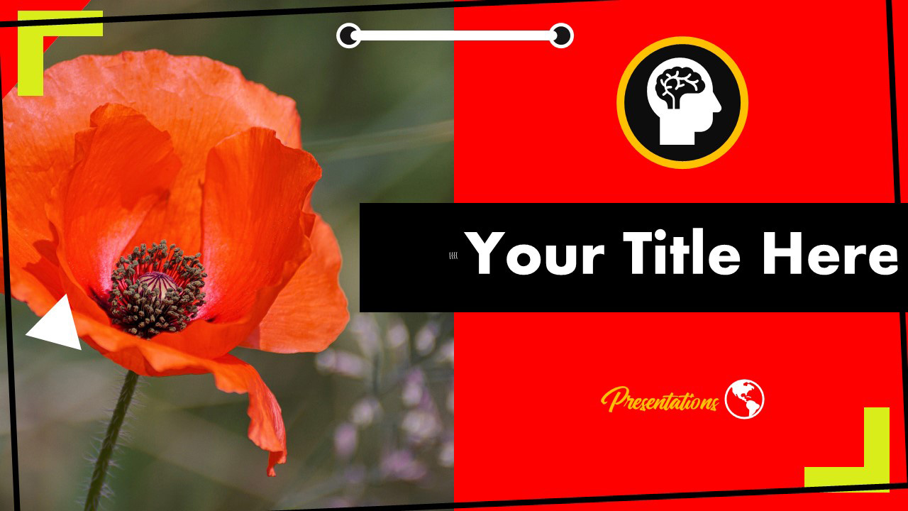 Free Poppy Farm Flower Powerpoint Template And Google Slides