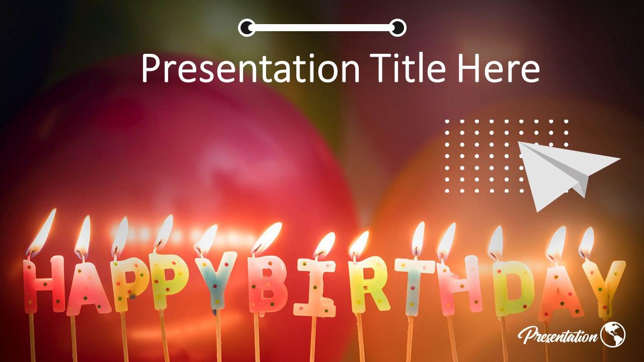 Birthday Congratulations Google Slides Themes Powerpoint Template Myfreeslides