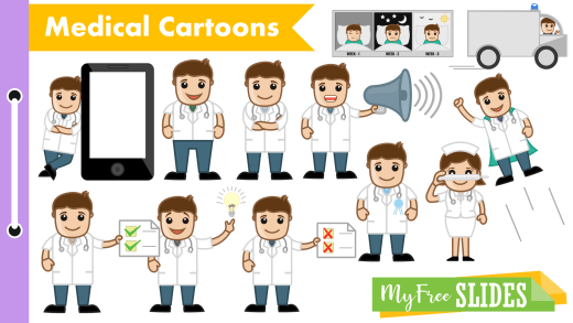 Cartoon Doctor For Google Slides