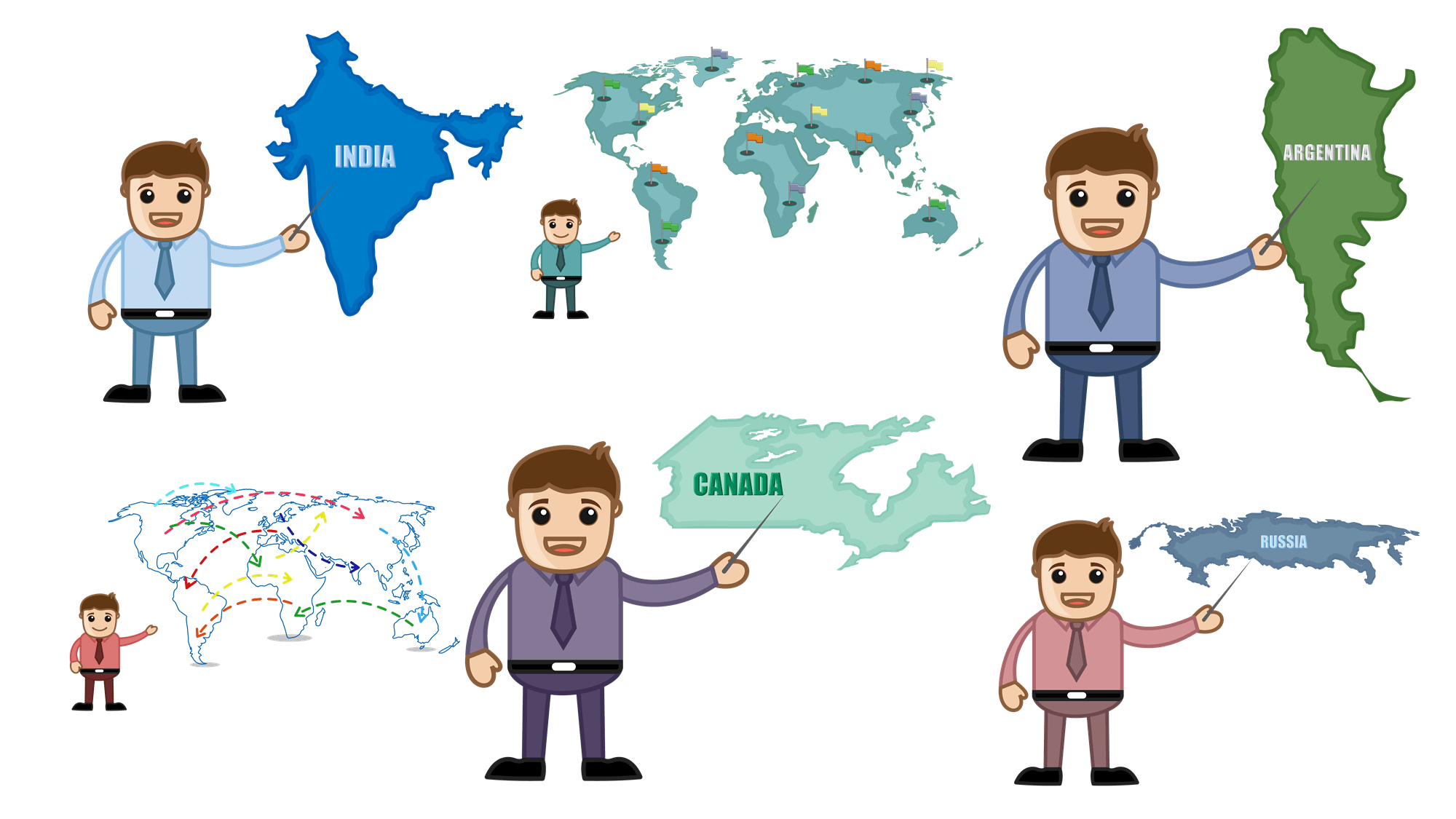 Country Maps Free Clipart