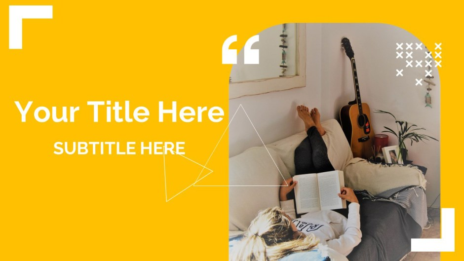 Simple Indoor Reading Google Slides Themes And Powerpoint Template Myfreeslides
