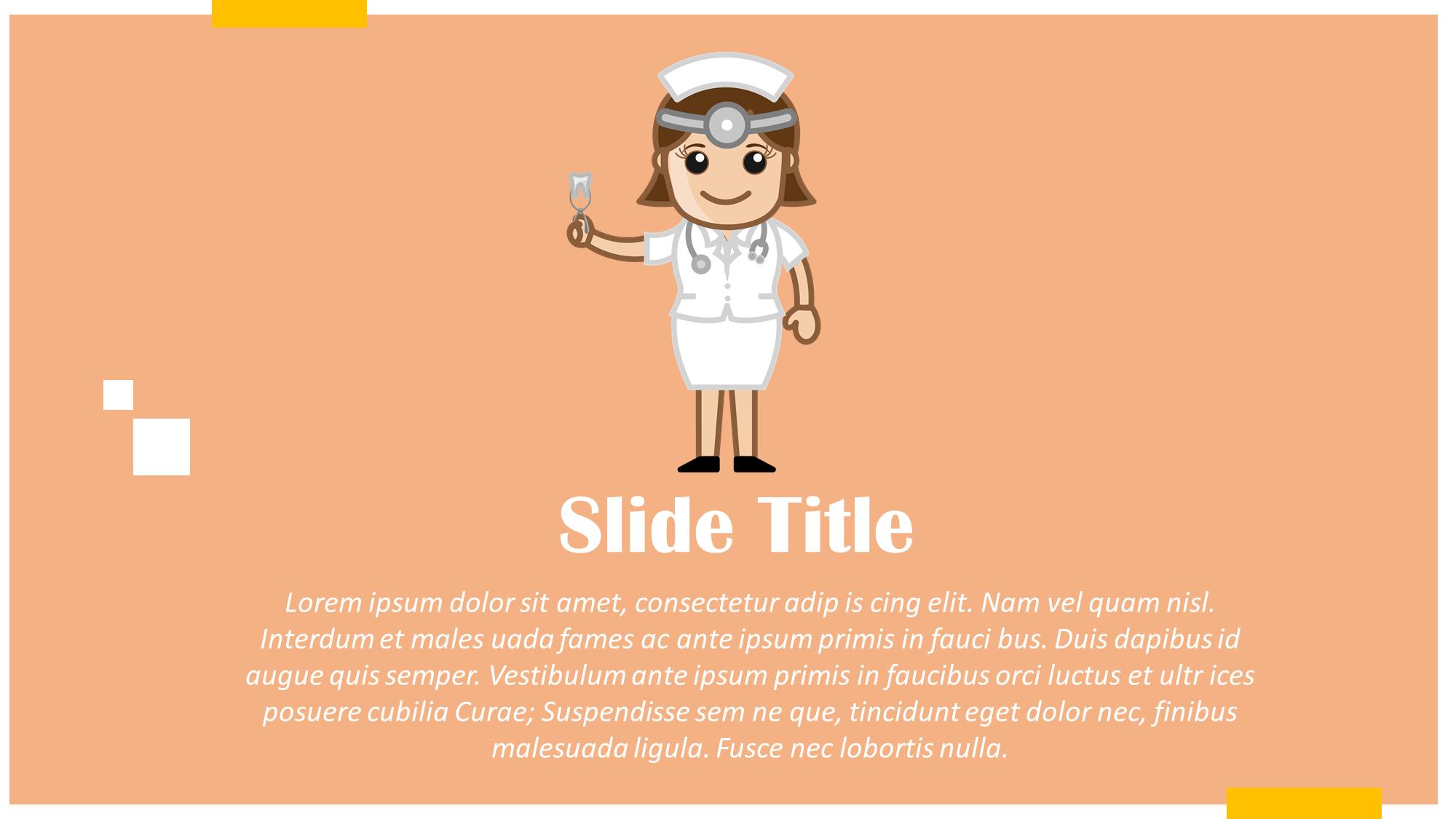 Lady Dentist Presentation Slide