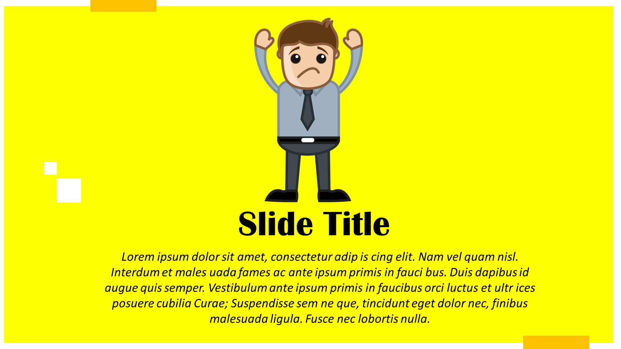 Sad Secretary Cartoon Slide