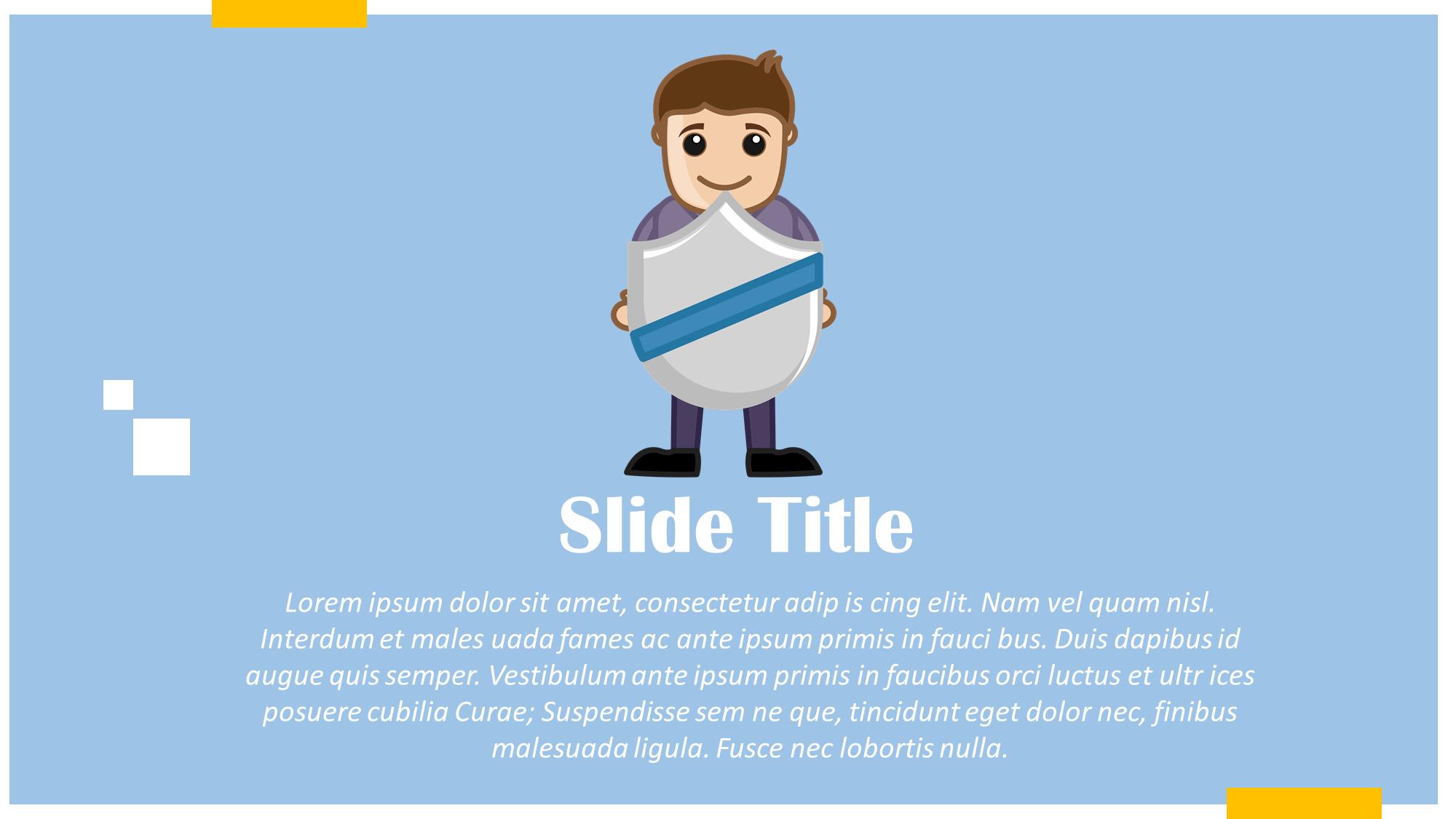 Security shield presentation slide