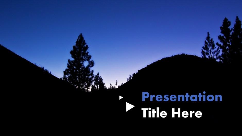 Silhouette nature presentation theme