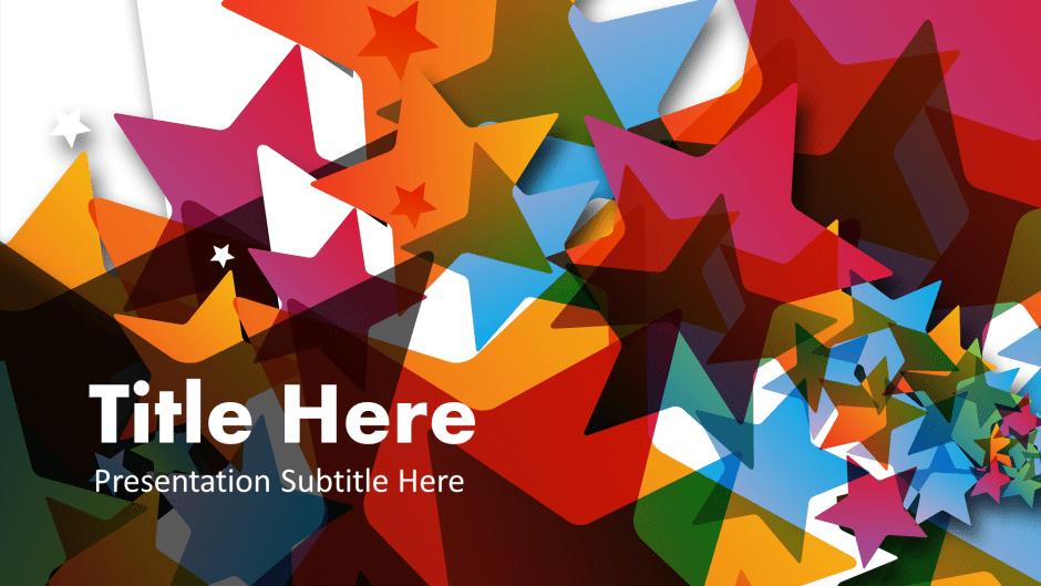Star themed Google Slide