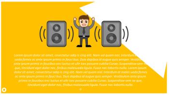 Speaker and noise cartoon illustration