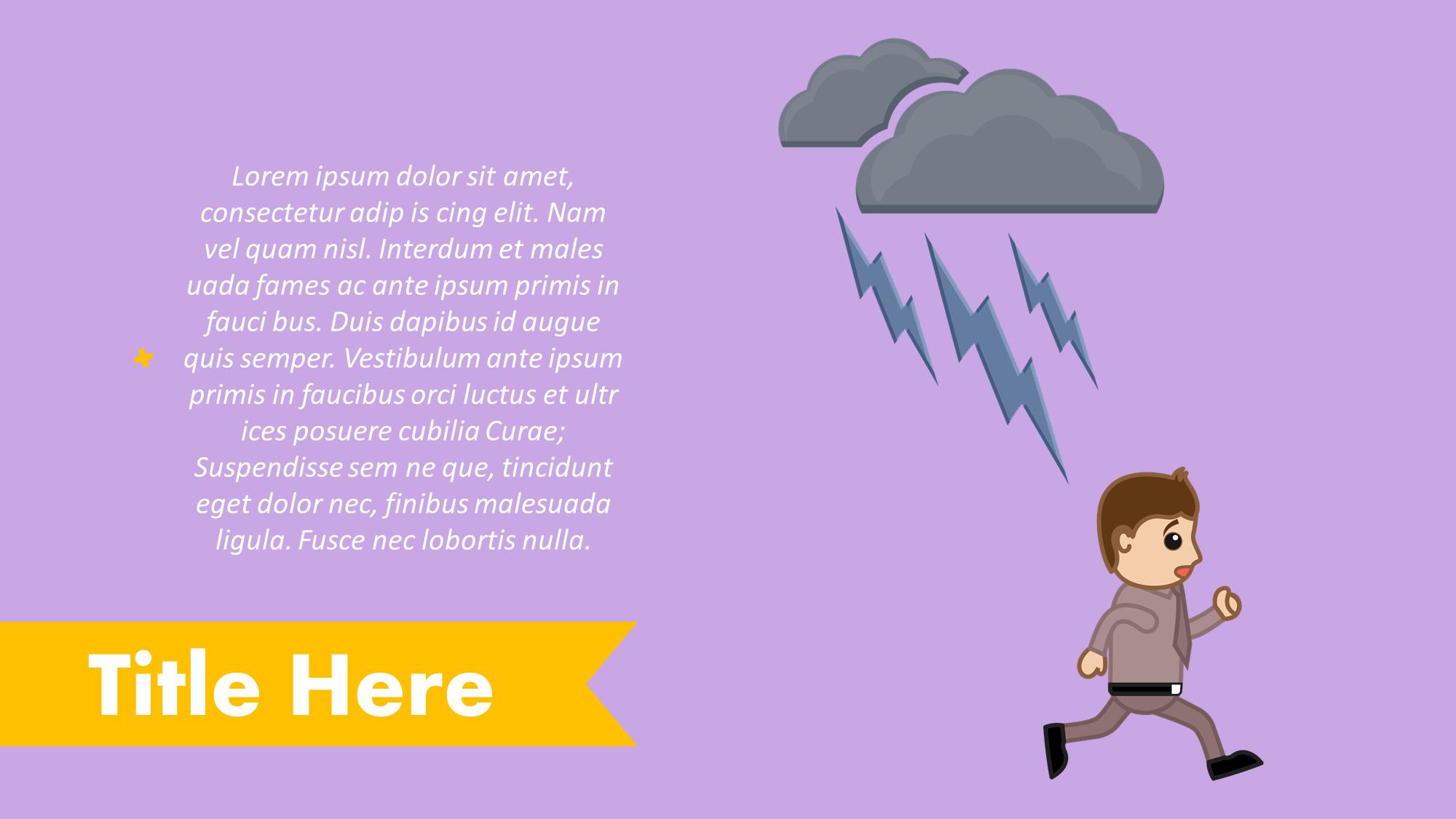 Thunder Lightning Presentation Slide
