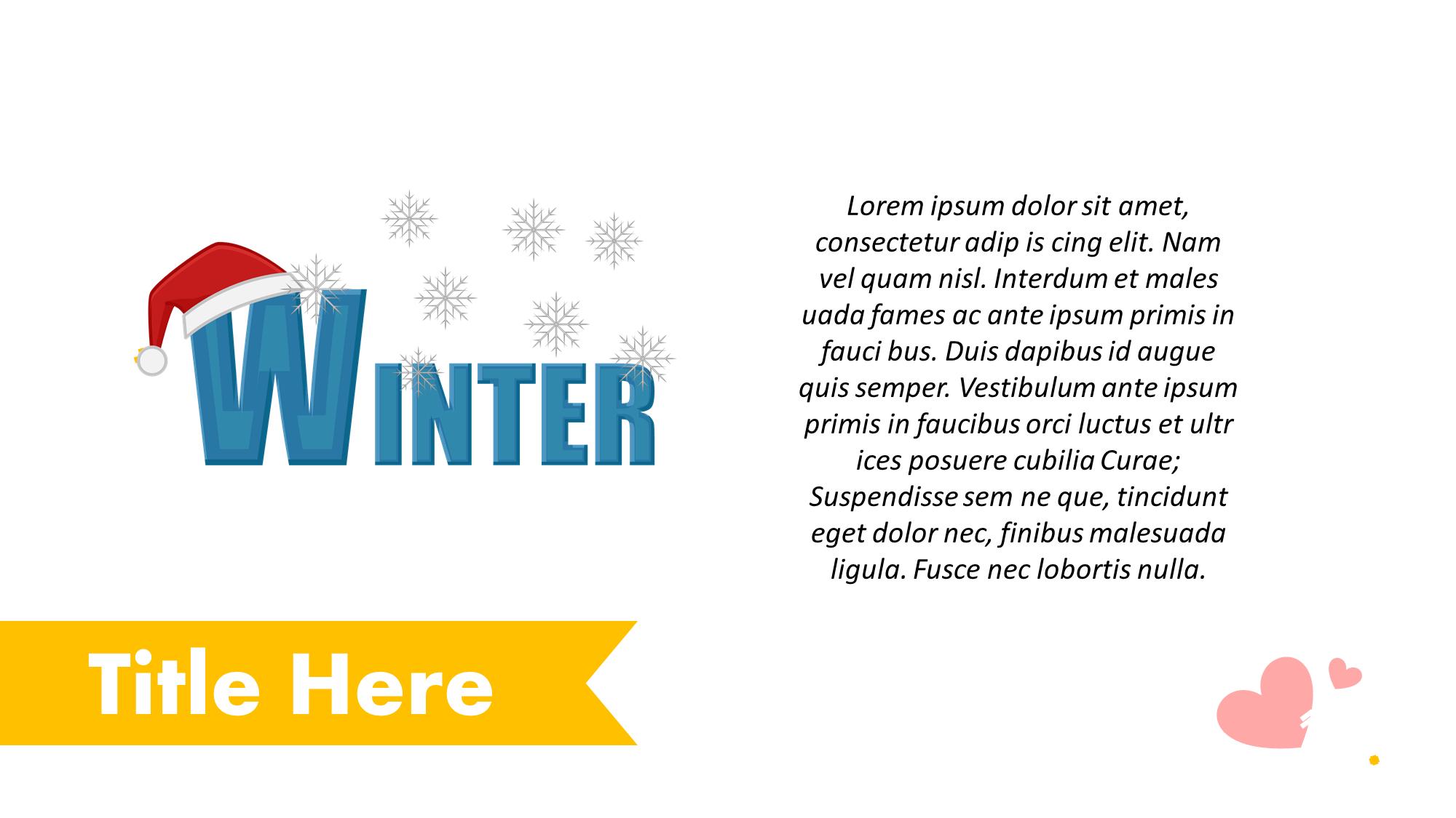 Winter Presentation Slide