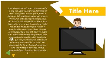flat screen tv presentation slide