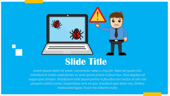 malware and virus cartoon slide