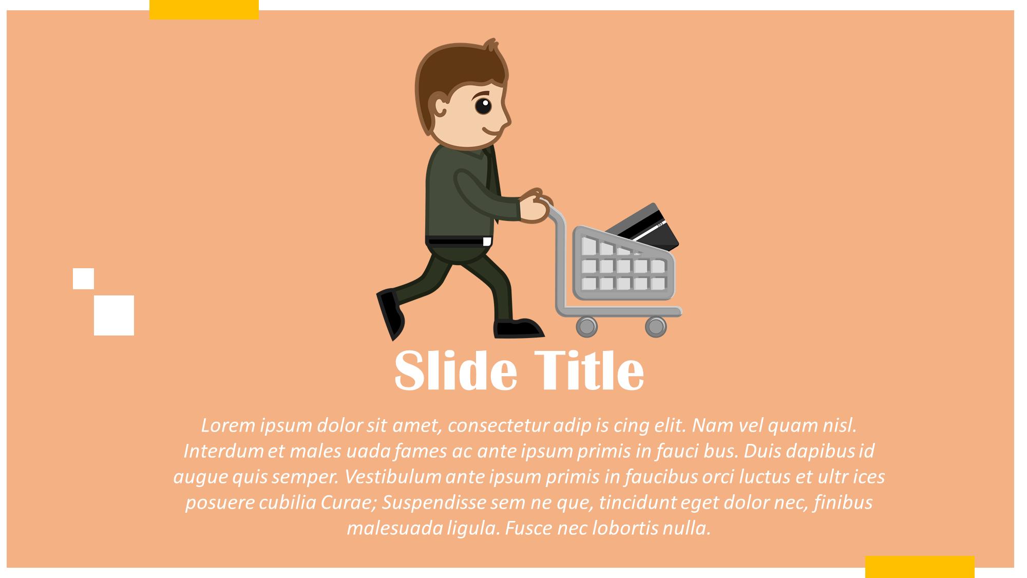 online shopping presentation slide