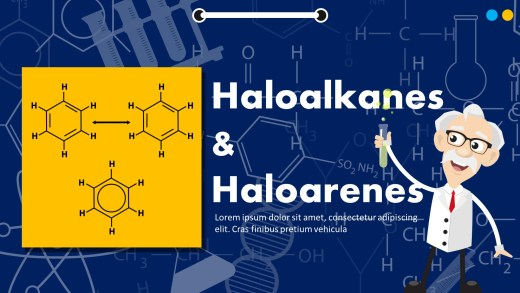 Haloalkanes And Haloarenes PowerPoint Template