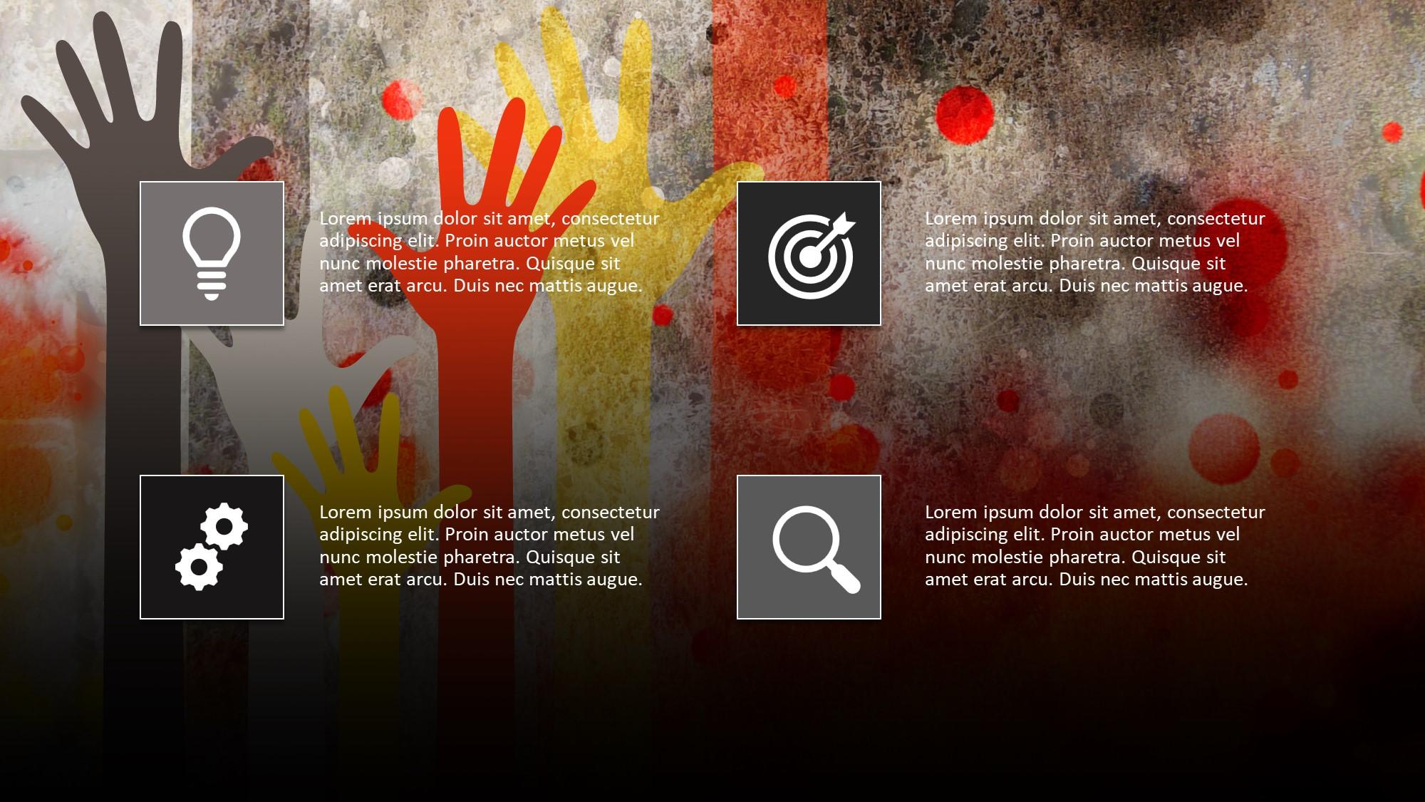 4 parts description slide