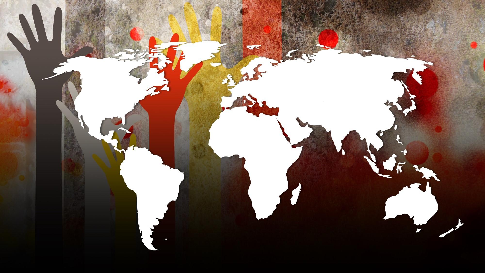 world map for social concern slide
