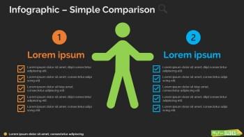 Simple Comparison Infographic-dark
