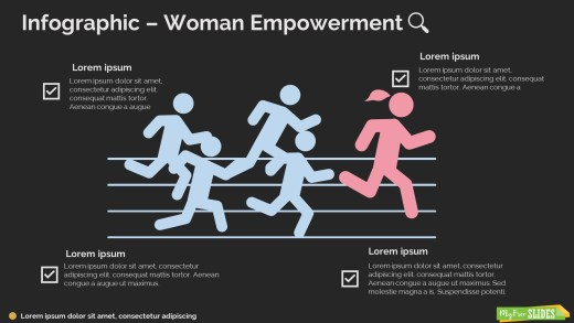 Woman Empowerment Infographic-dark