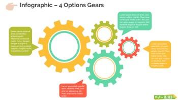4 Options Gears Infographics