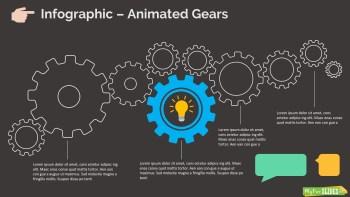 Animated Gears Infographic Slide Dark